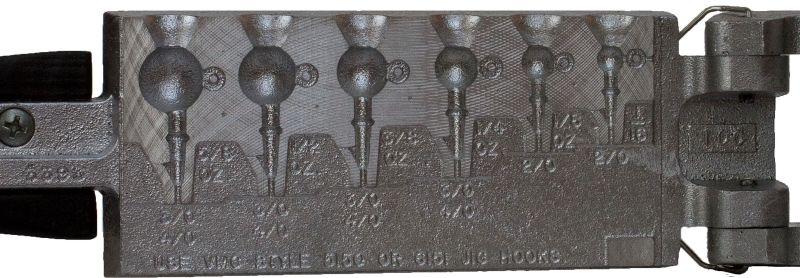 Bleigussform Drop Shot schwer für 7 Bleie 10,20,30,40,50,60 und 70 g gießen