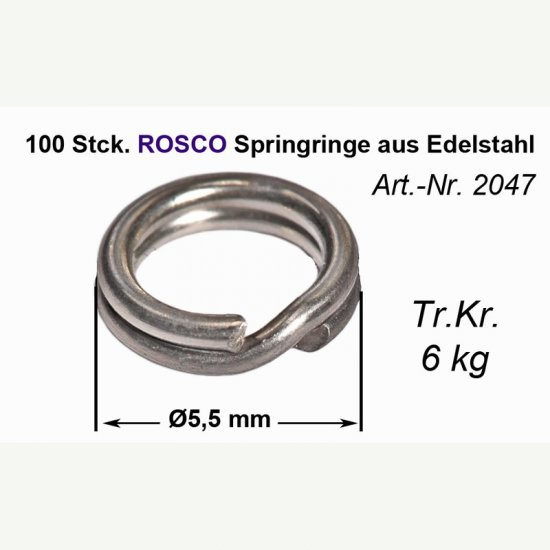 100 Rosco Springringe 5,5 mm