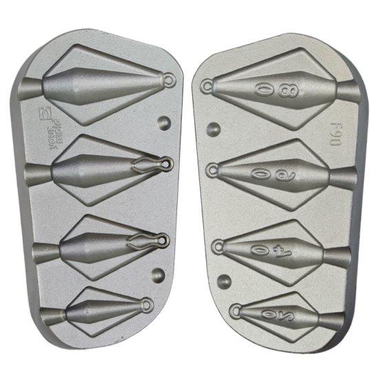 F90 Bleigussform Trapezblei 20-80