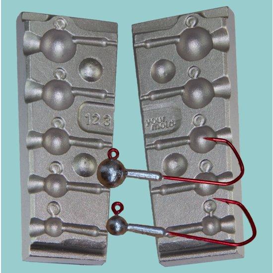F123 Rundkopf-Jig 5,5 bis 25