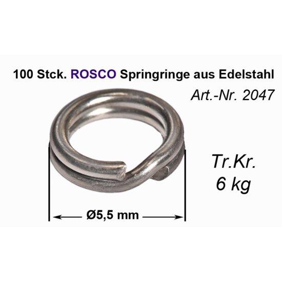 100 Rosco Springringe 5,5 mm