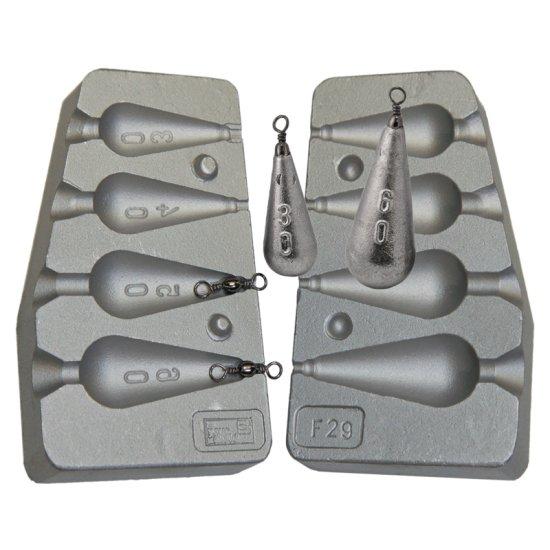 F29 Bleigussform Birnenblei 30 bis 60