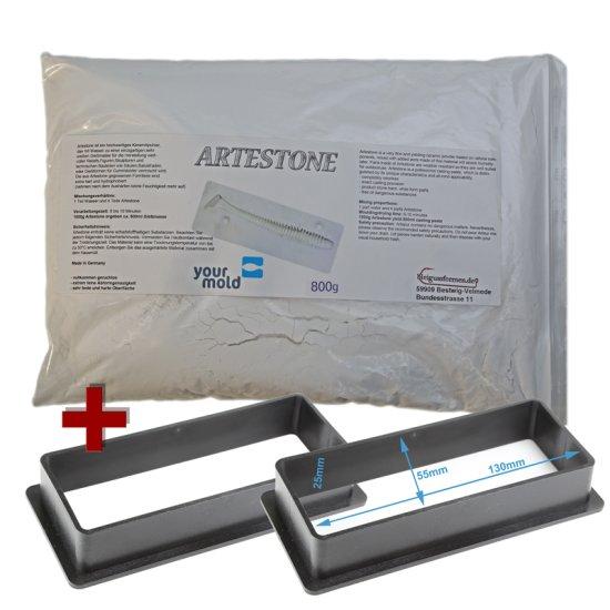 1 kg Artestone + 2 Gießrahmen